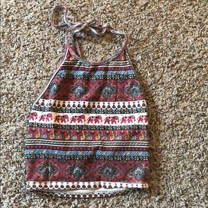 Urban outfitter halter crop top